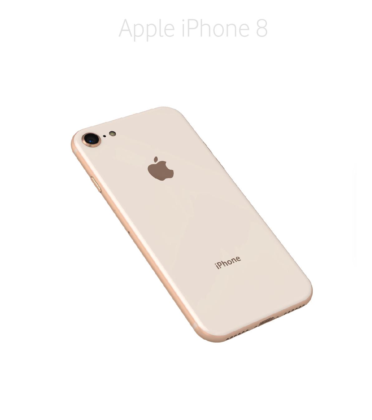 Laga baksida/glas iPhone 8
