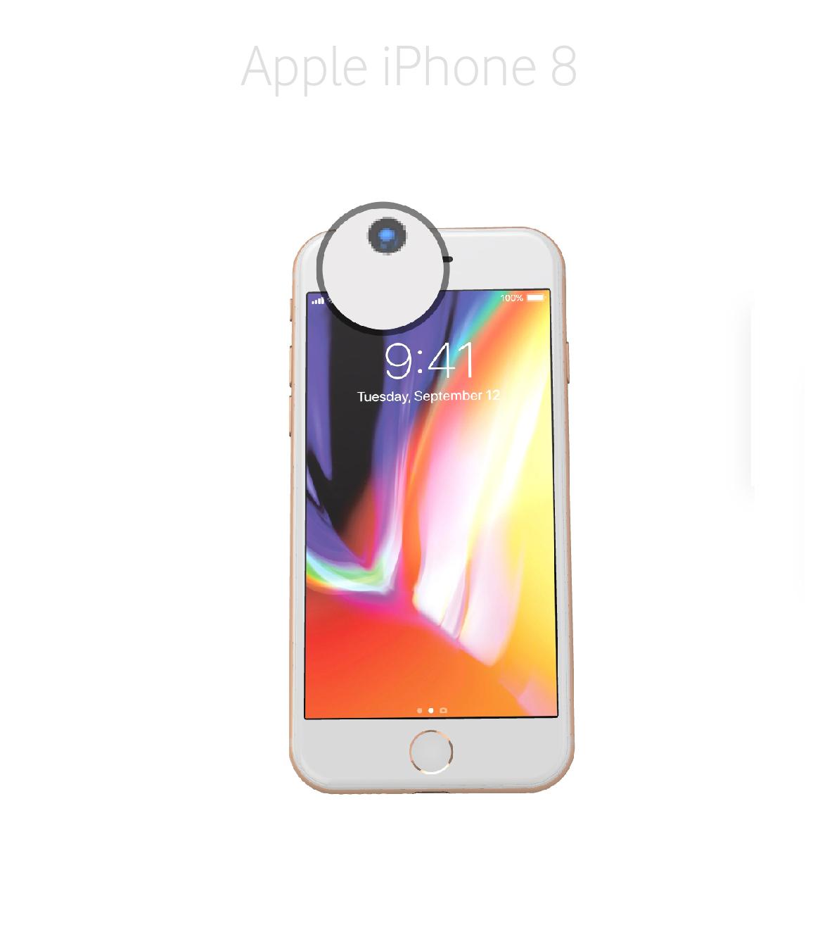 Laga kamera (selfie) iPhone 8