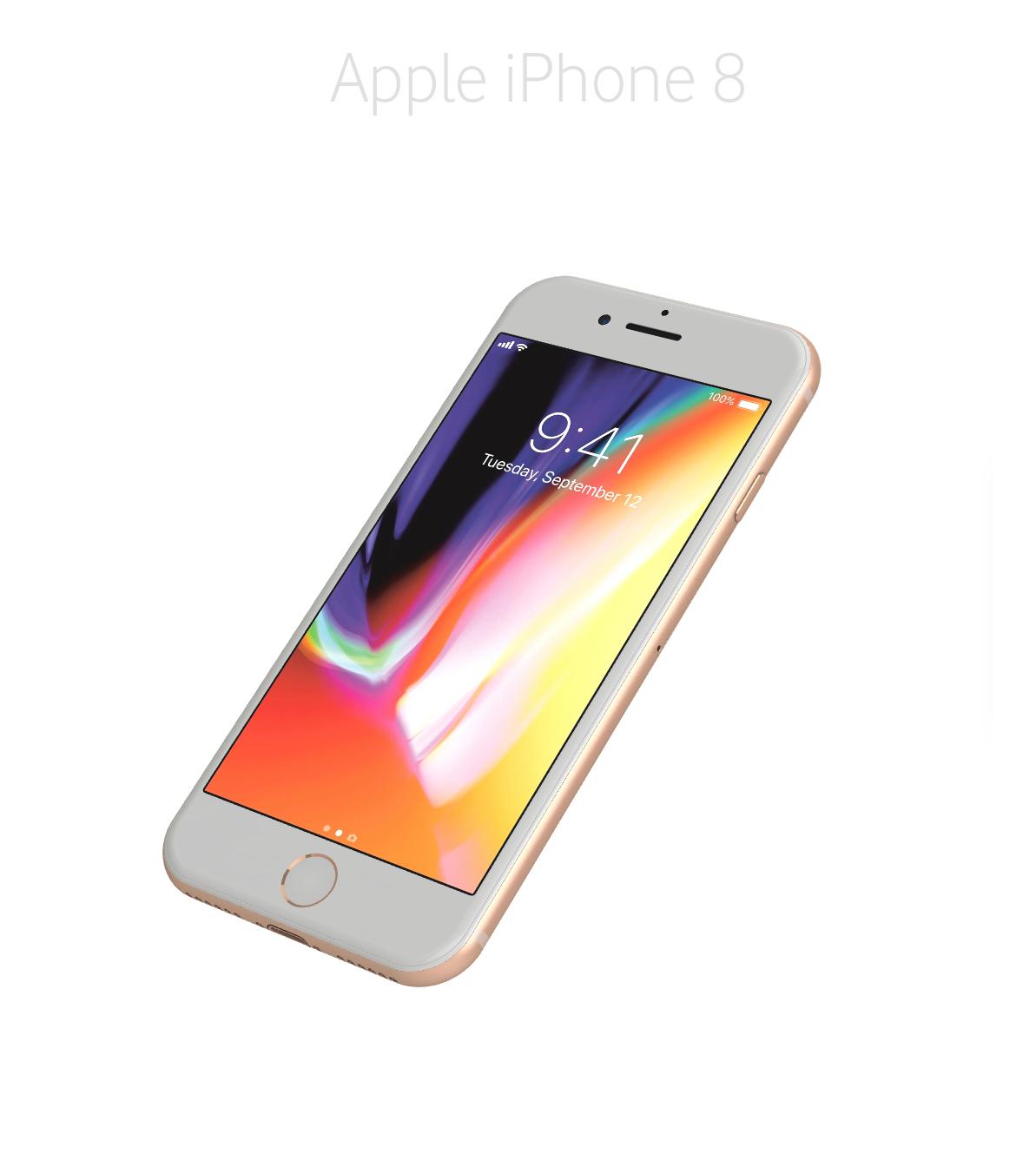 Laga framsida/glas/skärm iPhone 8