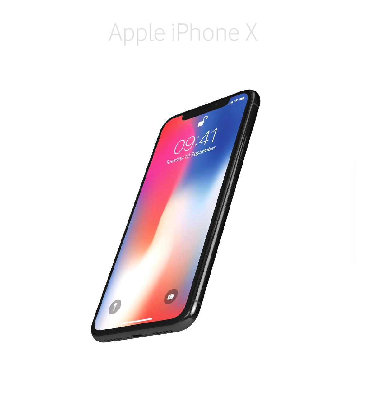 Laga glas skärm framsida iPhone X