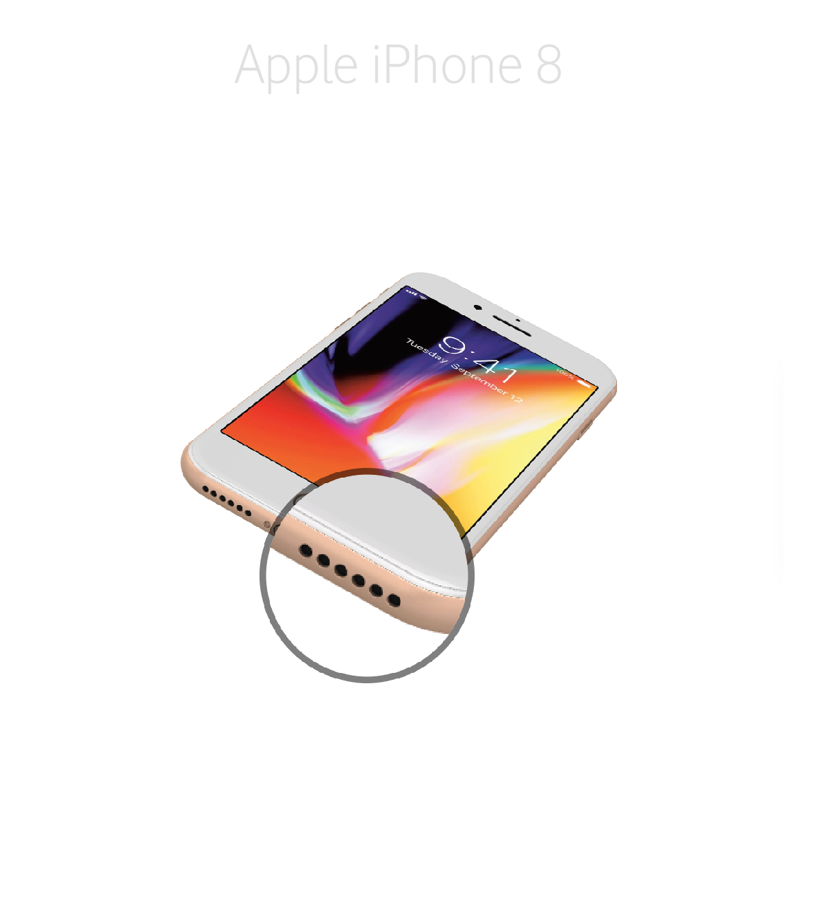 Laga högtalare iPhone 8