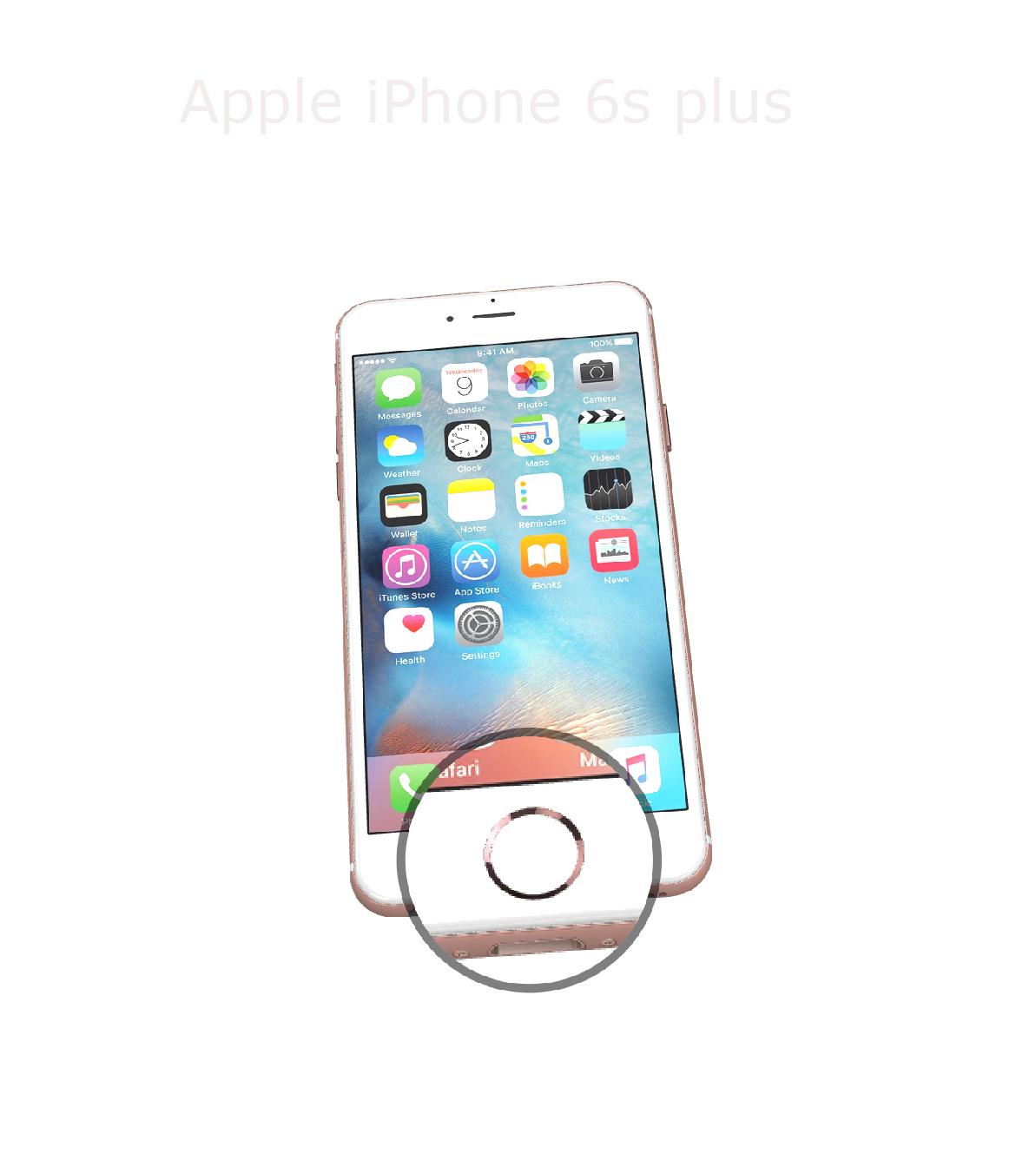 Laga hemknapp iPhone 6s plus