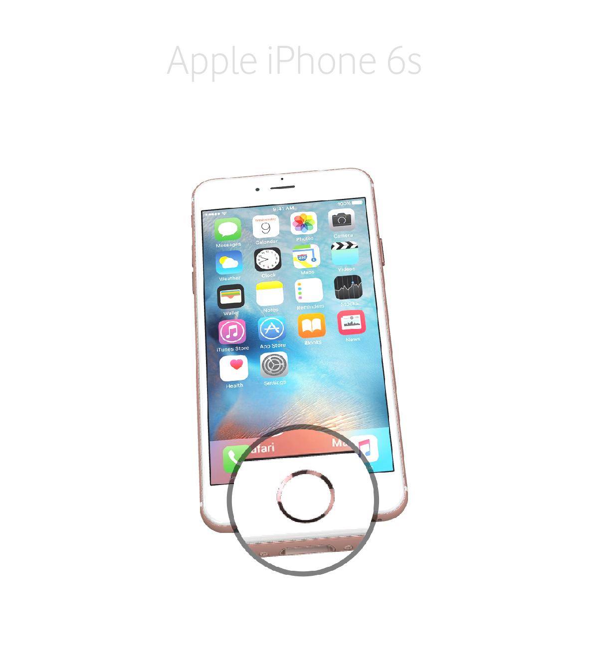 Laga hemknapp iPhone 6s
