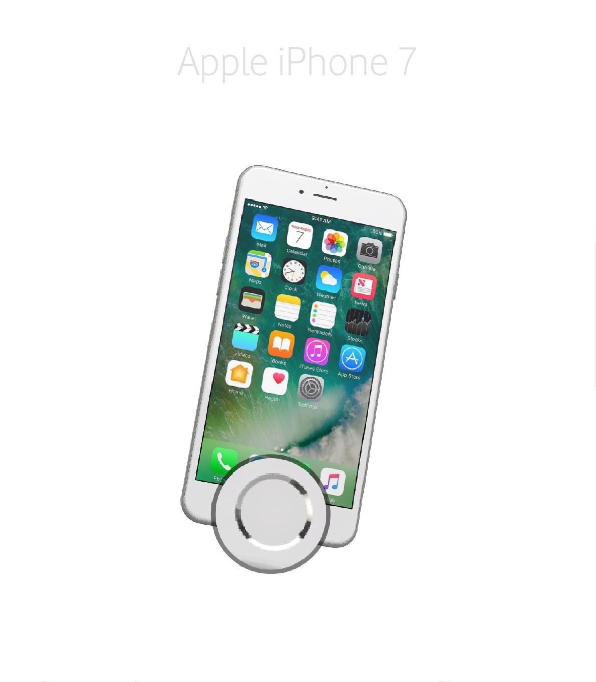 Laga hemknapp iPhone 7
