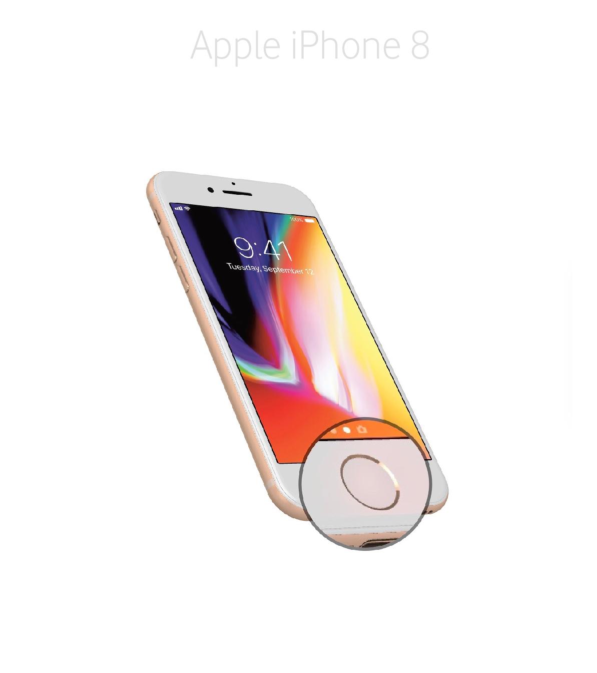 Laga hemknapp iPhone 8