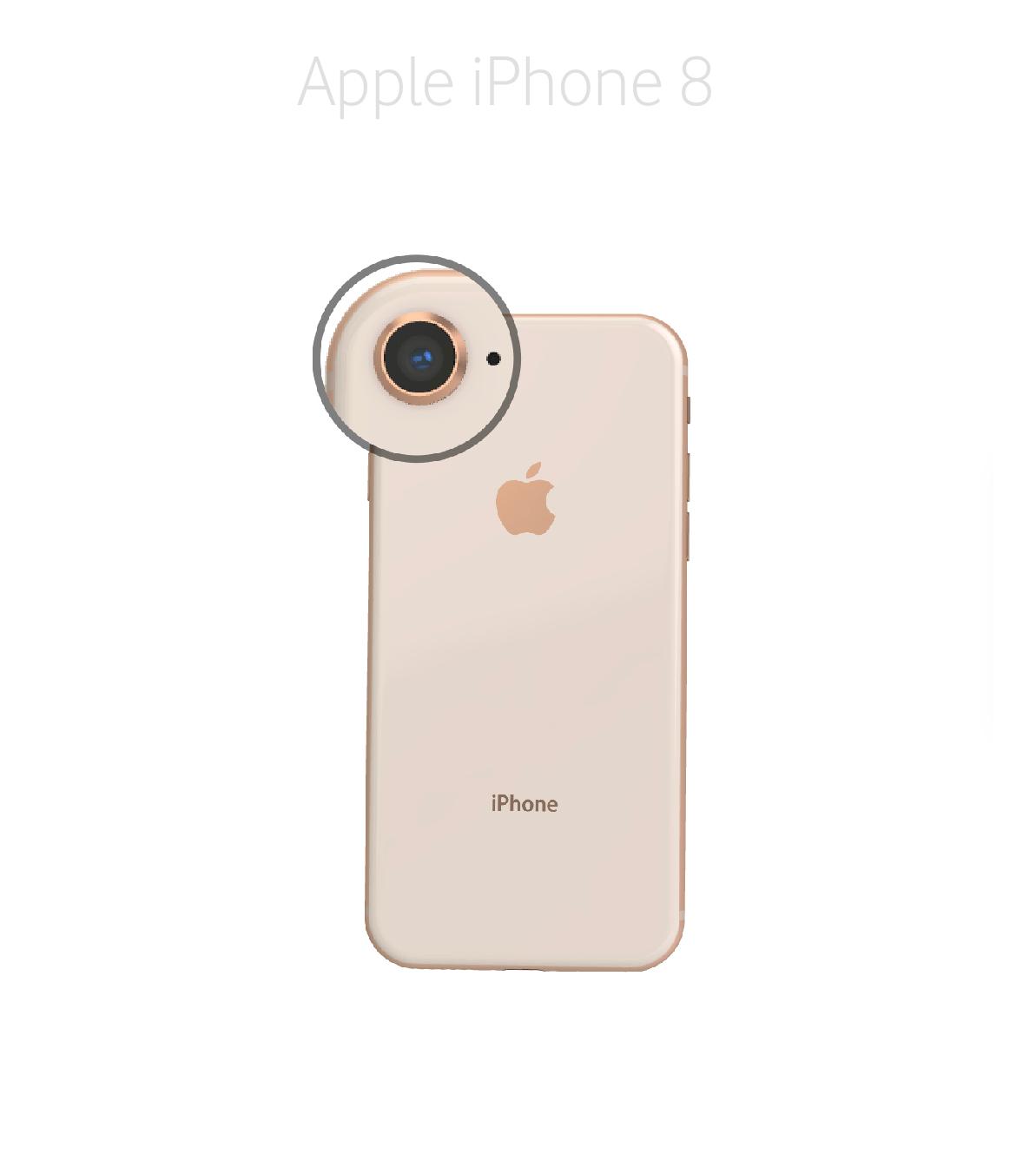 Laga mikrofon kamera iPhone 8