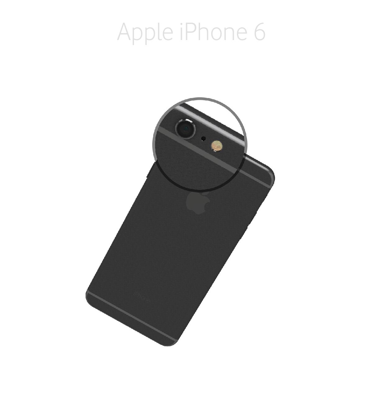 Laga kameralins iPhone 6