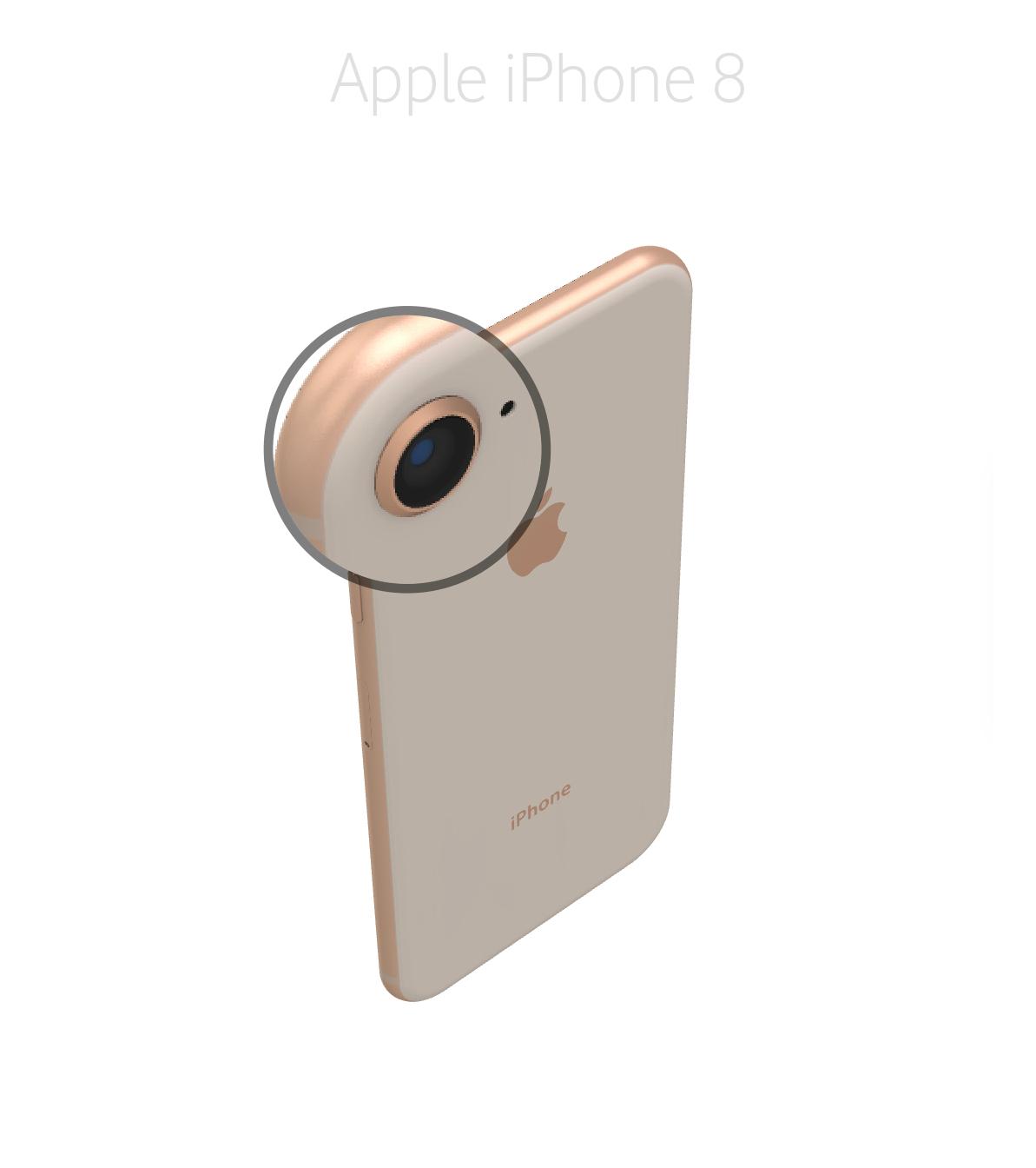 Laga kameralins iPhone 8