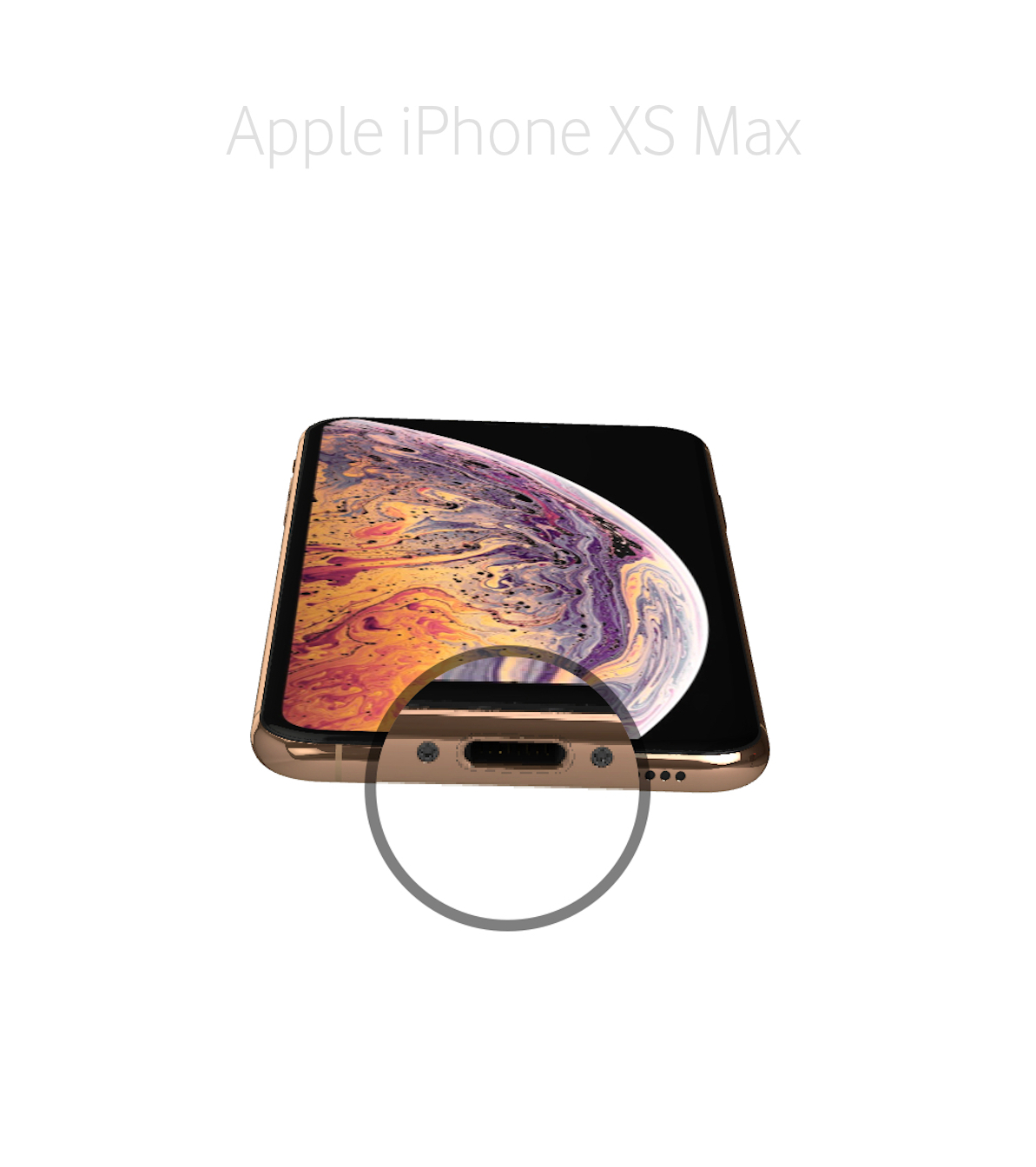 Laga audiokontakt iPhone Xs Max
