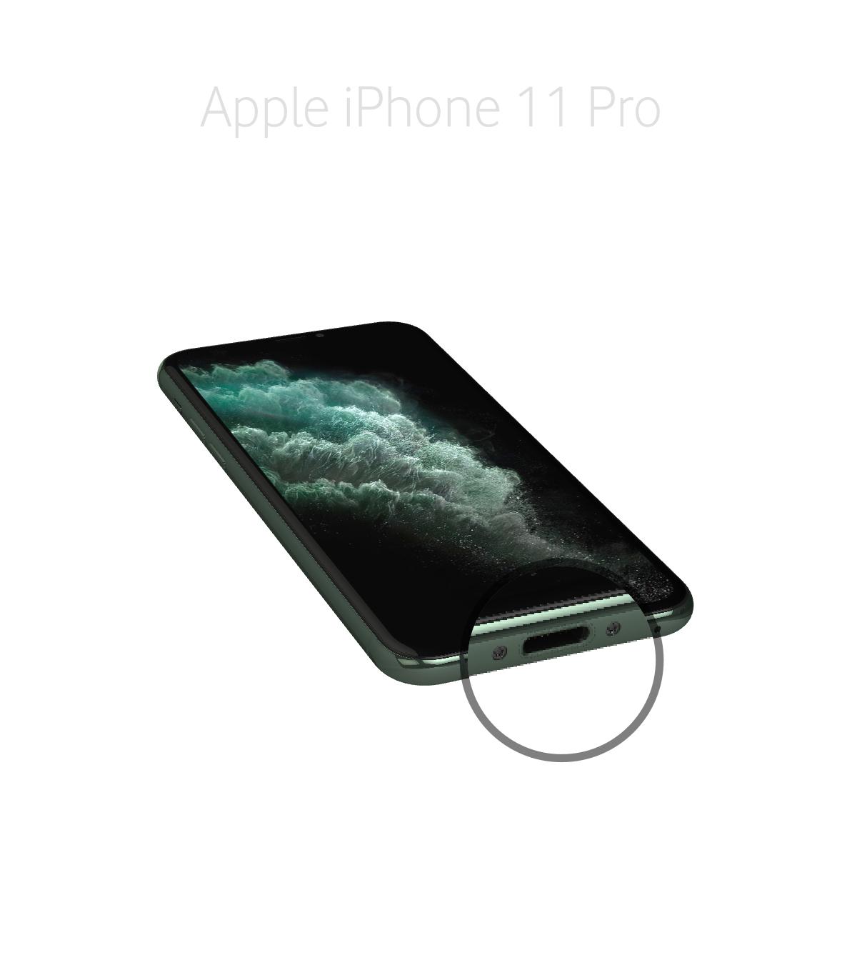 Laga lightningkontakt iPhone 11 Pro
