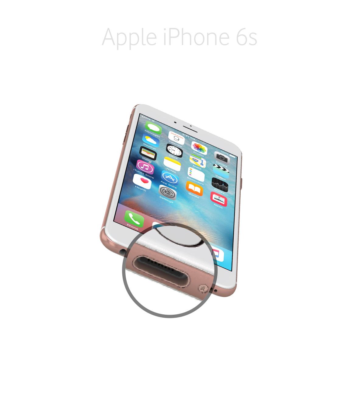 Laga lightningkontakt iPhone 6s