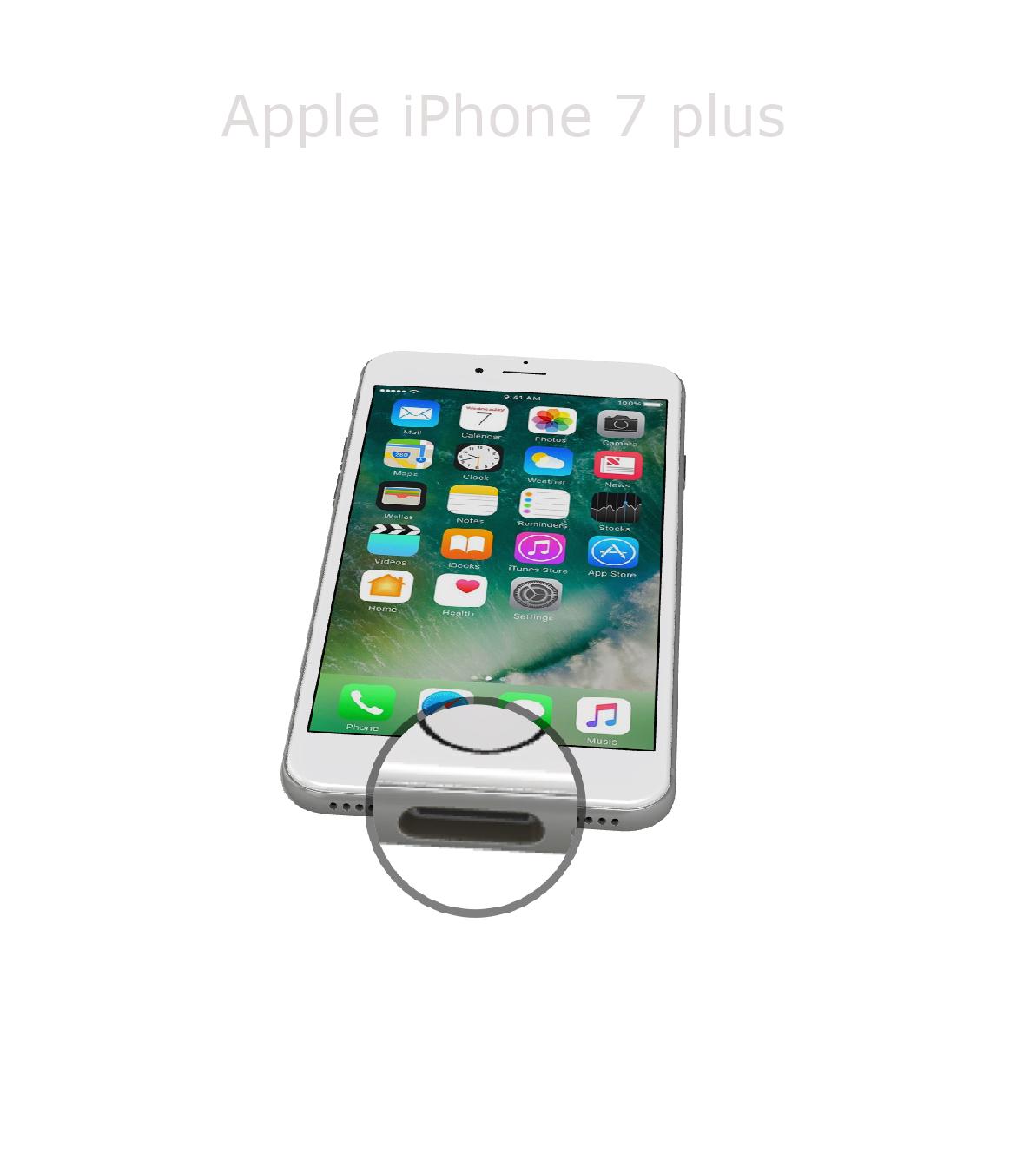 Laga lightningkontakt iPhone 7 plus
