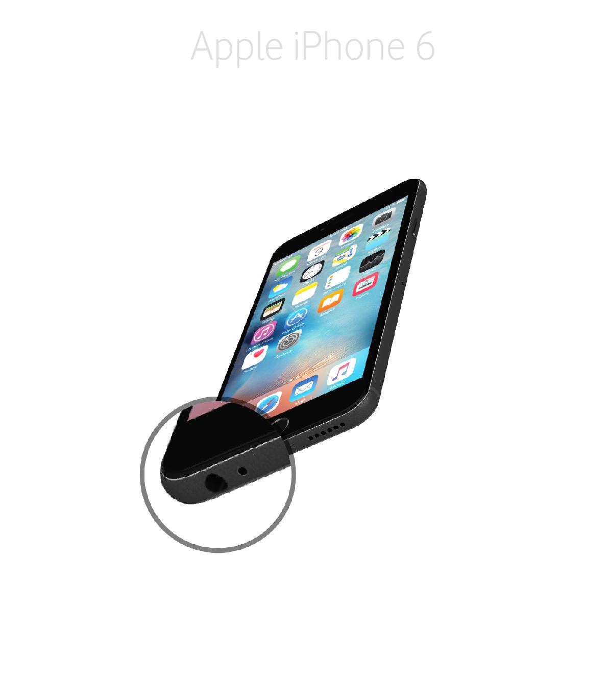 Laga mikrofon iPhone 6