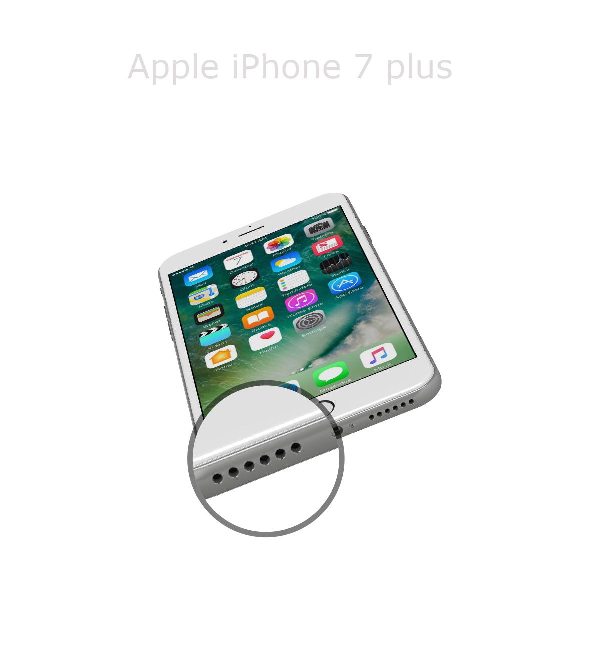 Laga mikrofon iPhone 7 plus