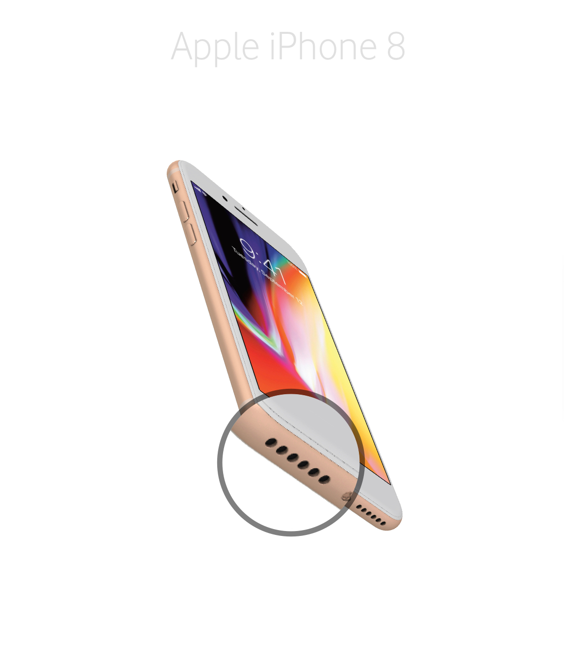 Laga mikrofon iPhone 8