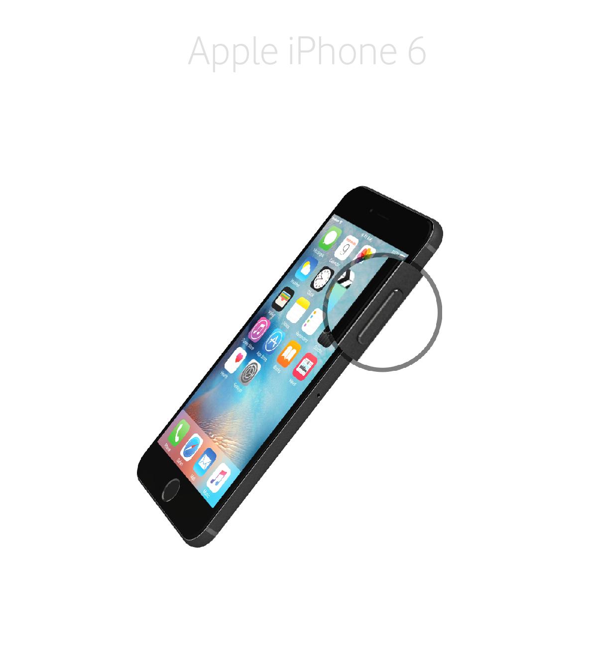 Laga sidoknapp iPhone 6