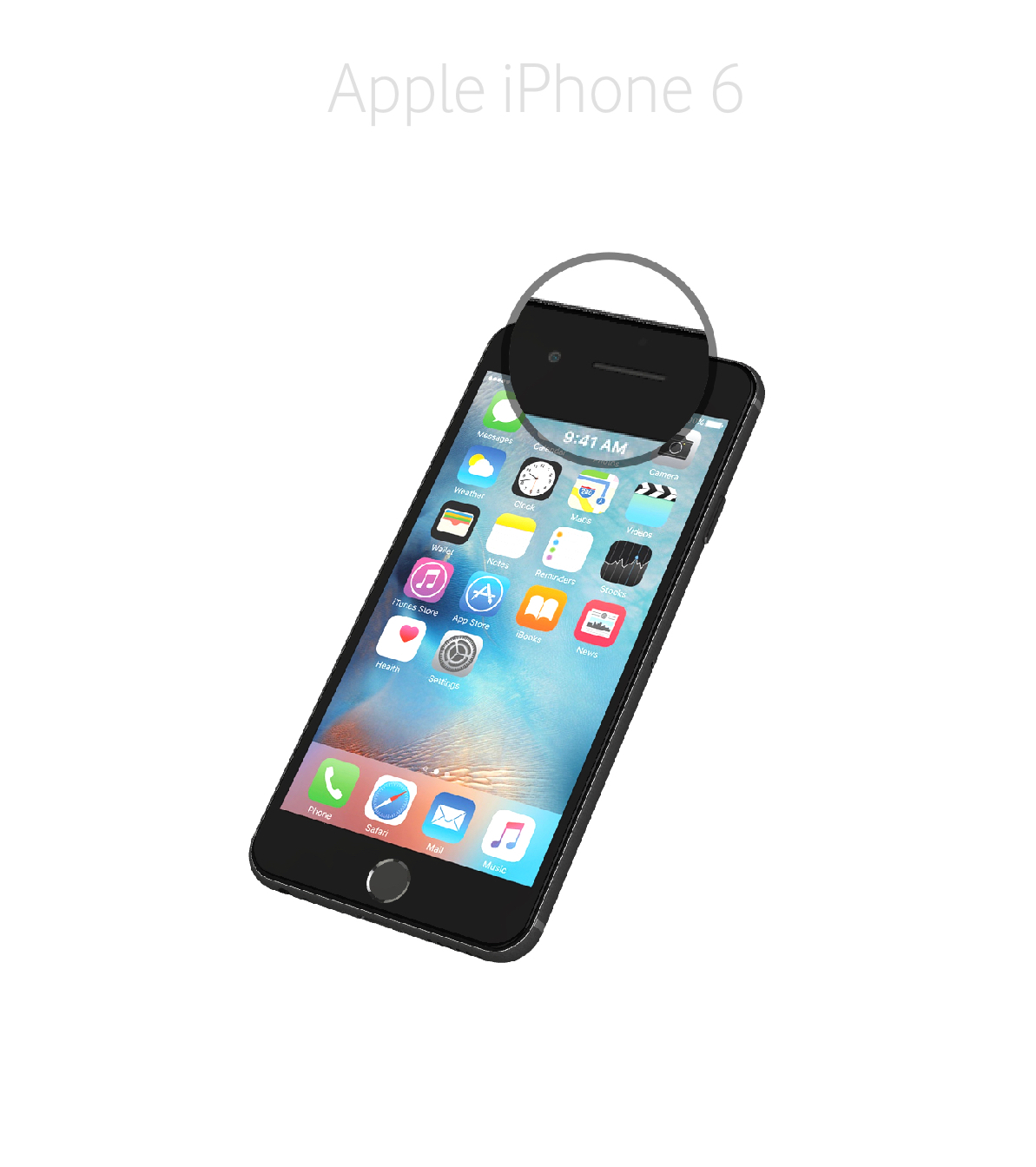Laga samtalshögtalare iPhone 6