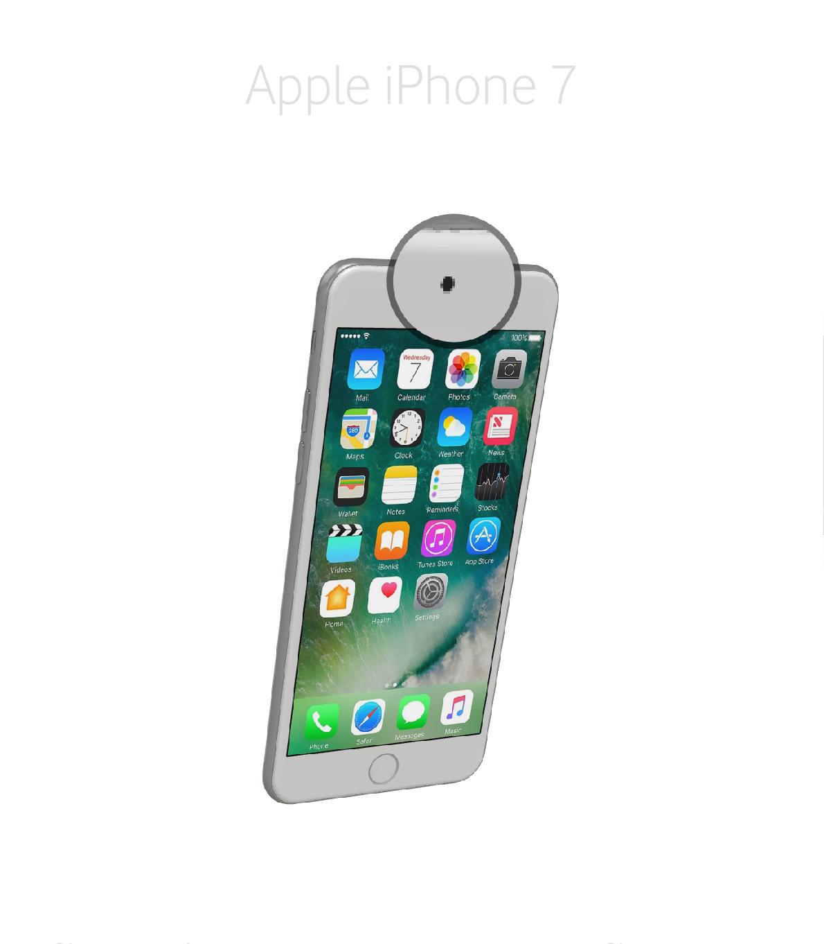 Laga kamera (selfie) iPhone 7