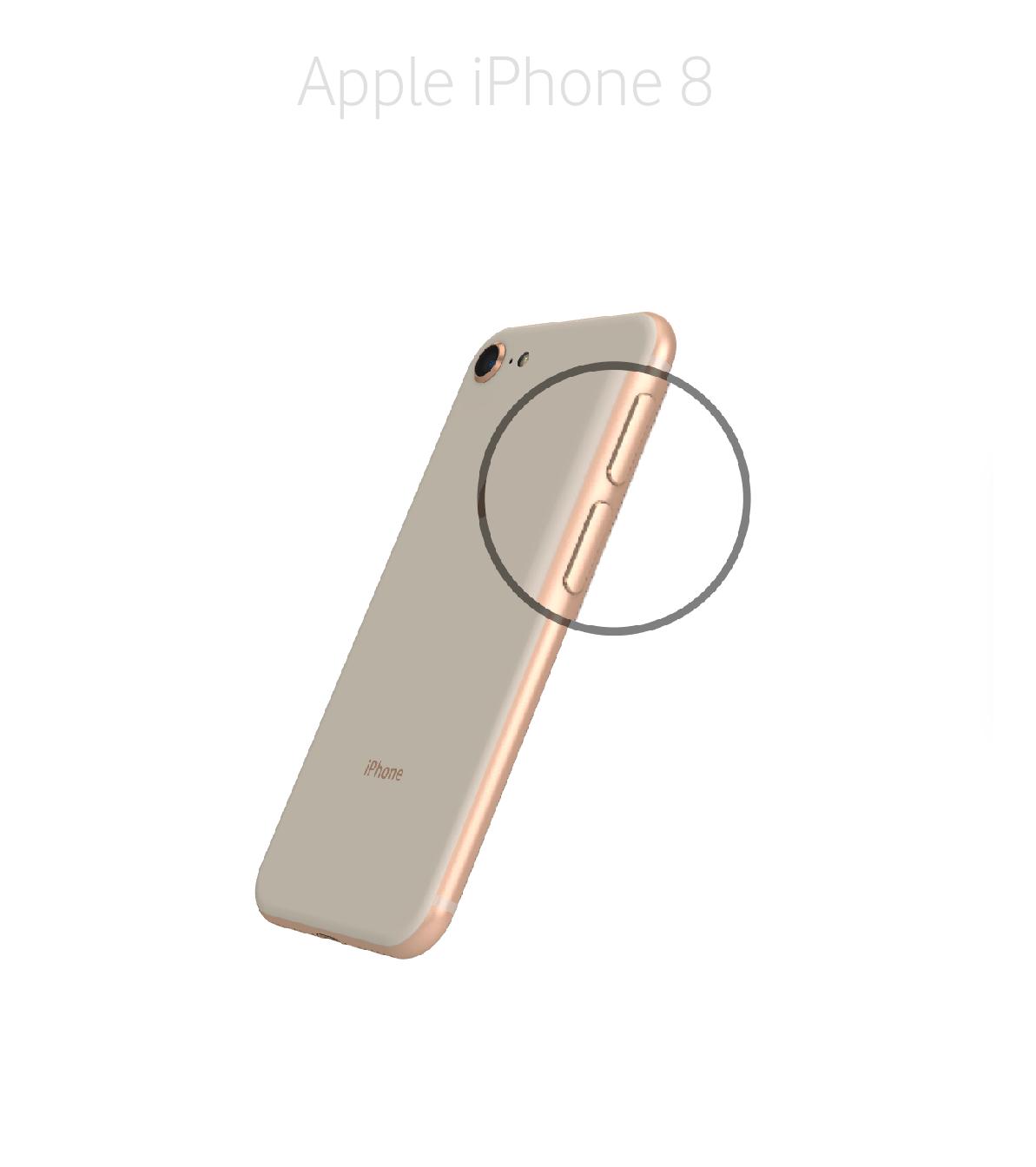 Laga volym/muteknapp iPhone 8