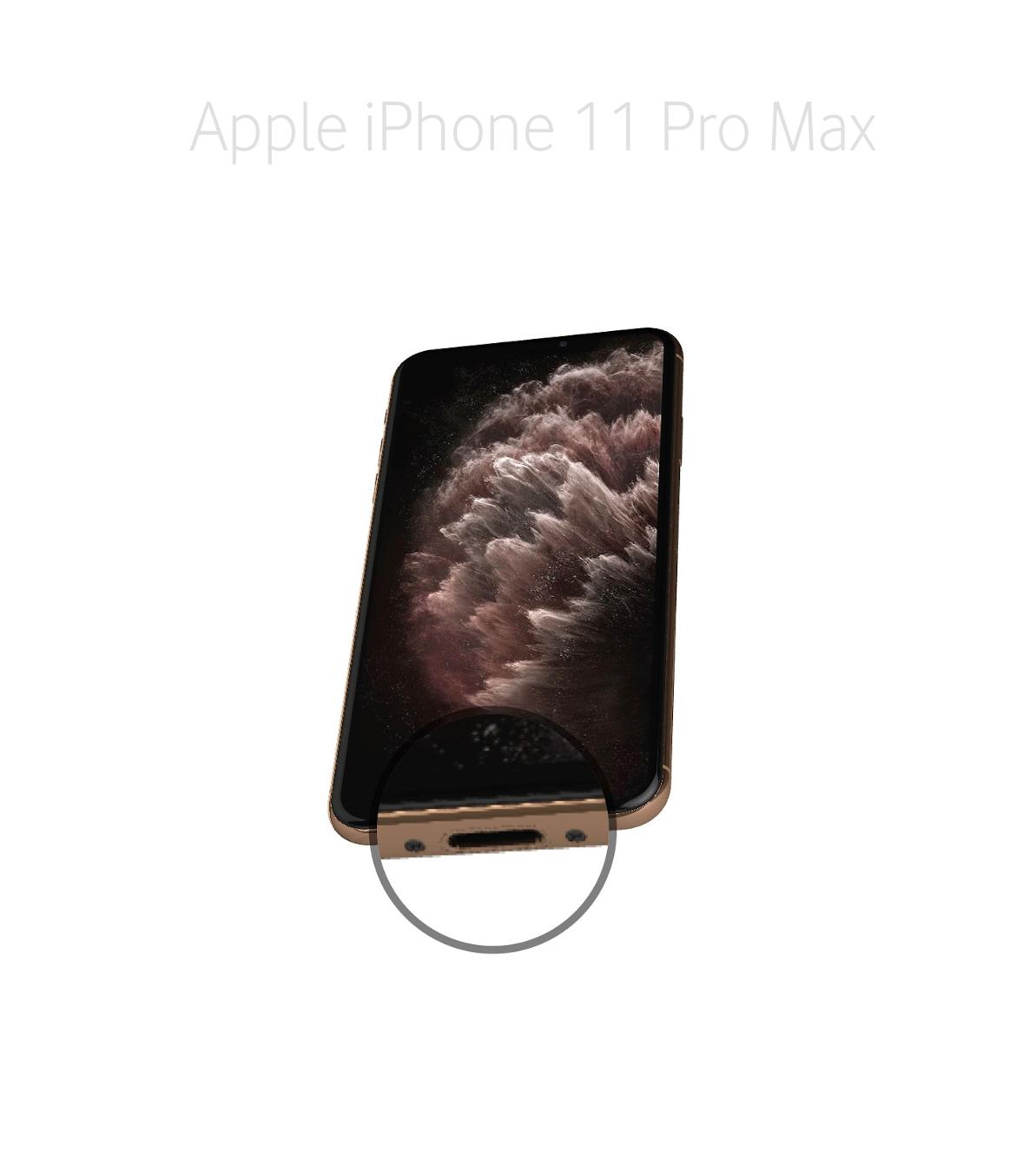 Laga lightningkontakt iPhone 11 Pro Max