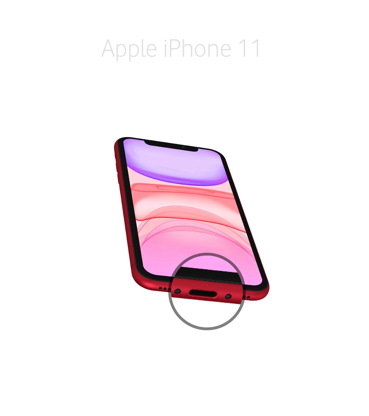 Laga lightningkontakt iPhone 11
