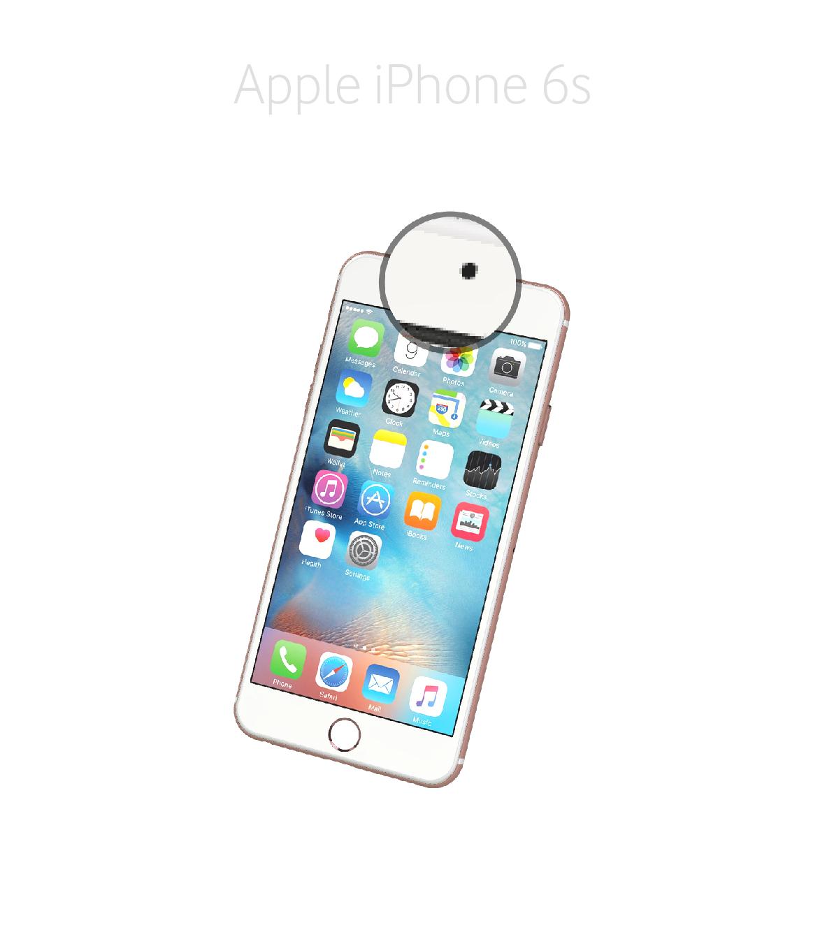Laga kamera (selfie) iPhone 6s