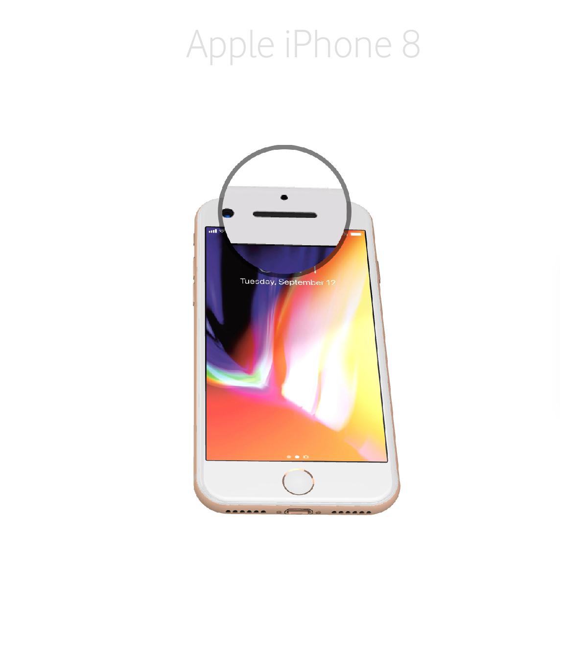 Laga ljussensor iPhone 8