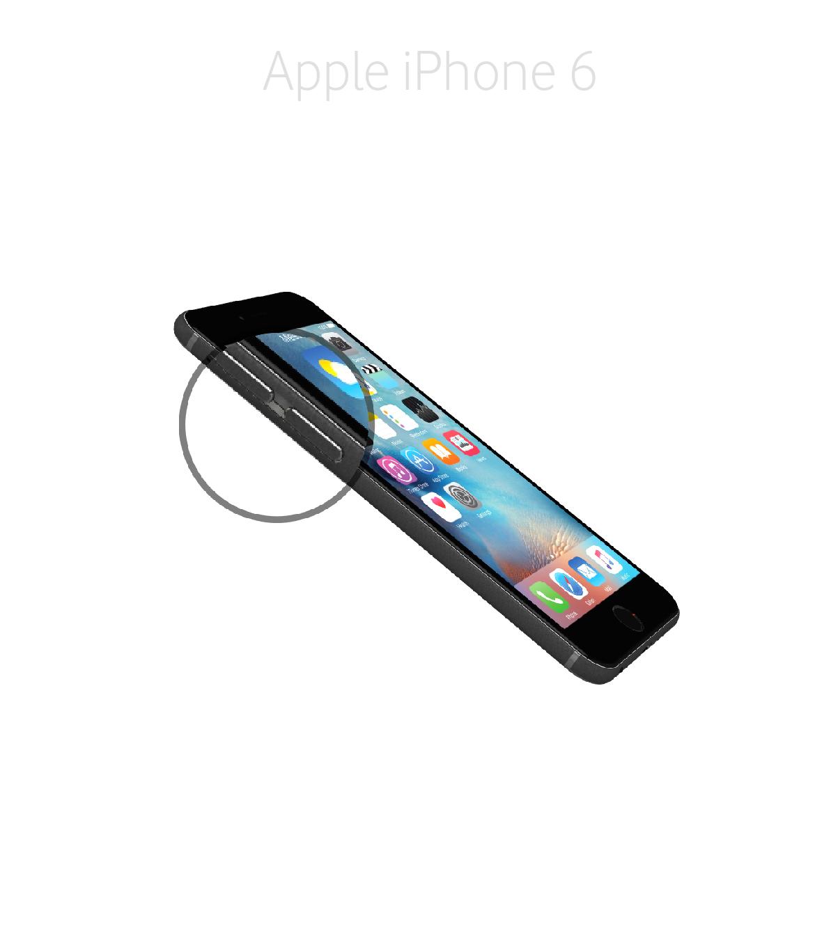 Laga volym/muteknapp iPhone 6